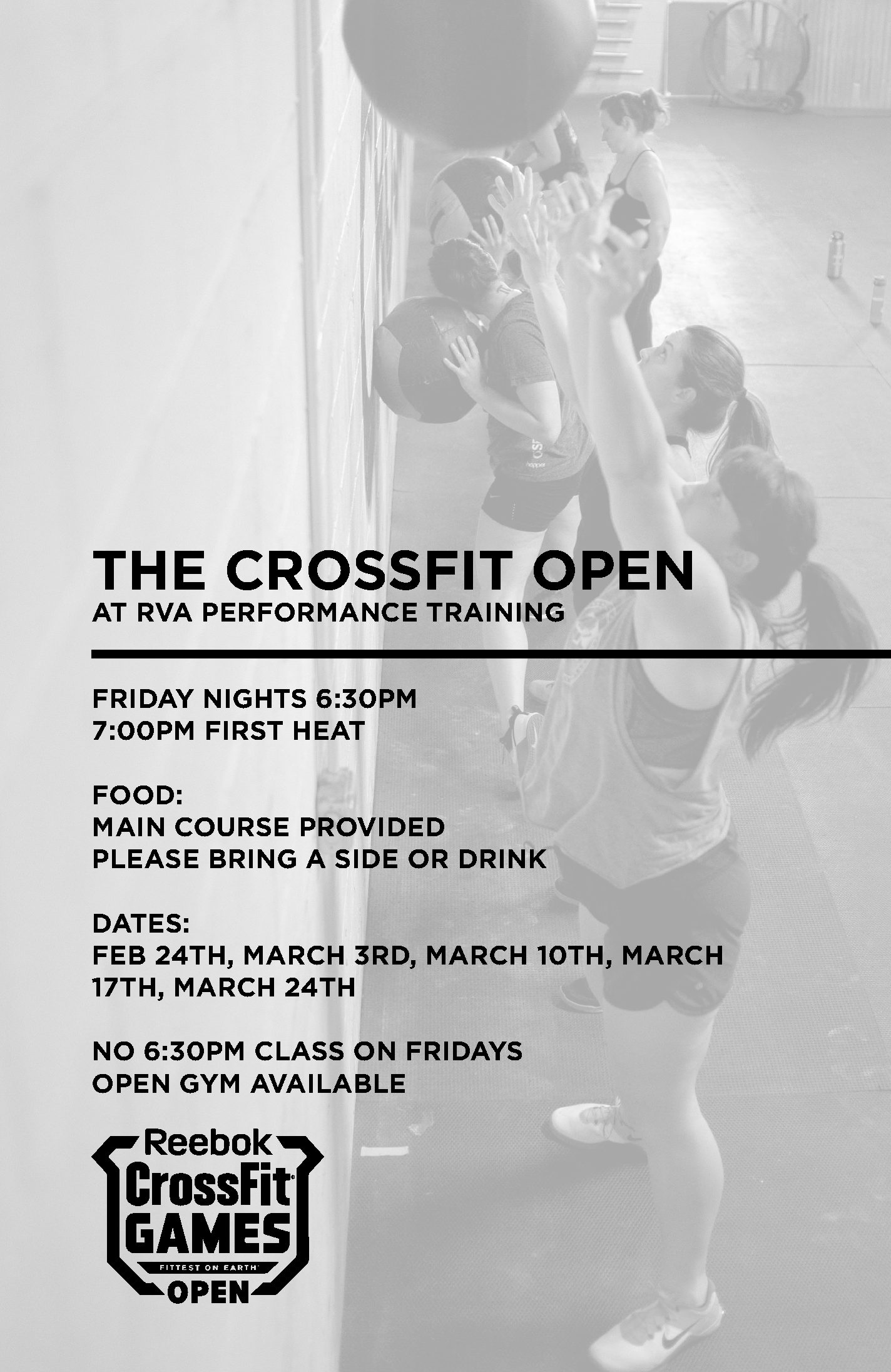 CrossFit RVA Open Season Schedule - RVA Performance Training